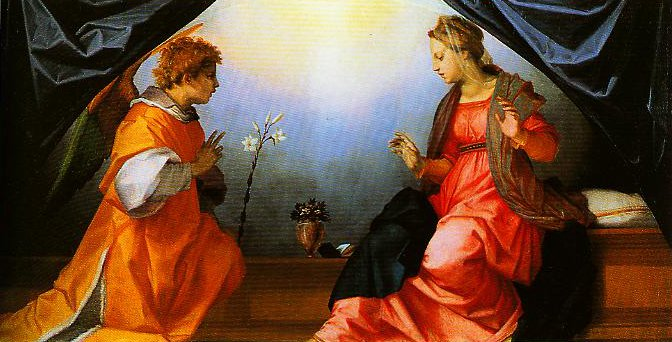 The Annunciation2 | Andrea Del Sarto | Oil Painting