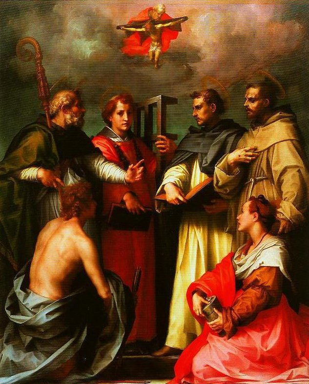 The Debate over the Trinity | Andrea Del Sarto | Oil Painting