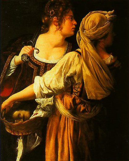 Judith and Her Maidservant | Artemisia Gentileschi | Oil Painting