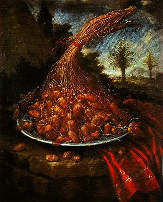 A Bunch of Dates | Bartolomeo Bimbi | Oil Painting