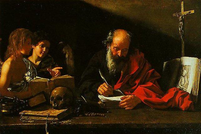 St Jorome with Two Angels | Bartolomeo Cavarozzi | Oil Painting