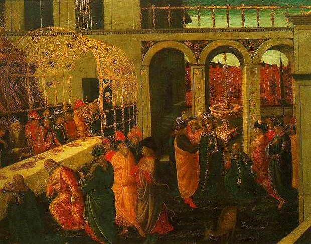 The Banquet of Ahasuerus | Jacopo Del Sellaio | Oil Painting