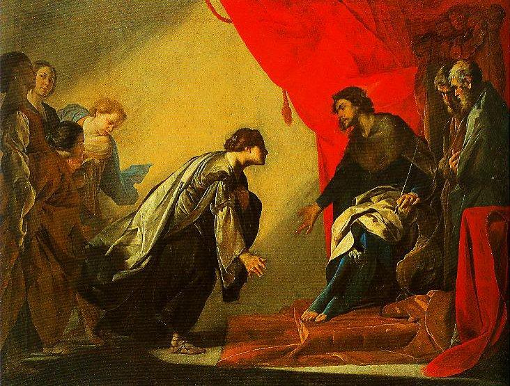 Esther before Ahasuerus | Bernardo Cavallino | Oil Painting