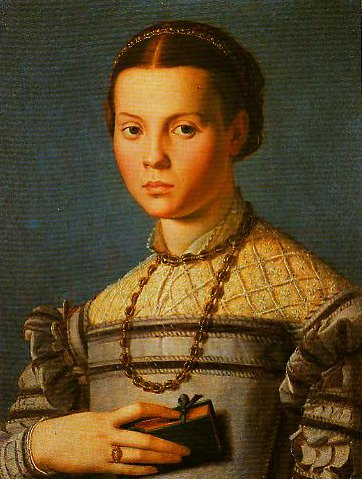 Portrait of a Little Girl with a Book | Bronzino | Oil Painting