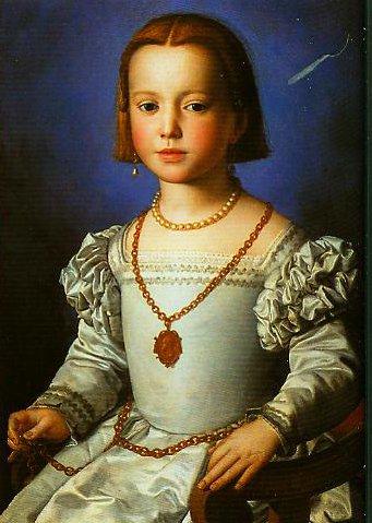 Portrait of Bia   Bronzino   Oil Painting