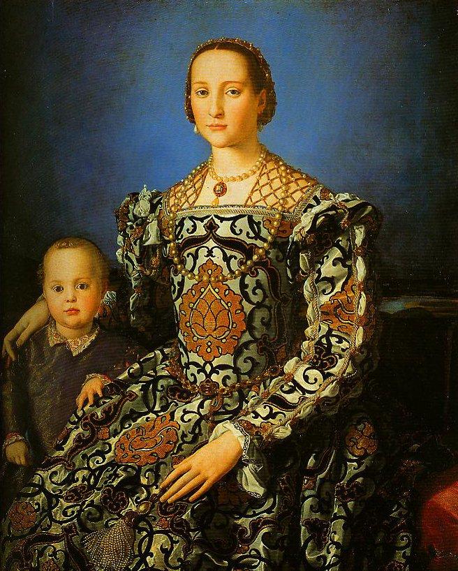 Portrait of Eleonora of Toledo with Her Son Giovanni | Bronzino | Oil Painting