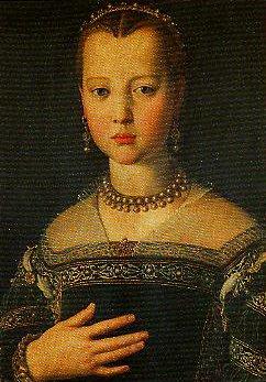 Portrait of Maria de Medici   Bronzino   Oil Painting