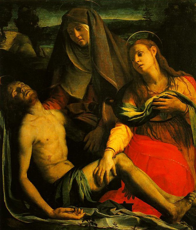 The Dead Christ with the Madonna and Mary Magdalen | Bronzino | Oil Painting