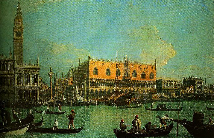 A View of the Ducal Palace in Venice | Canaletto | Oil Painting