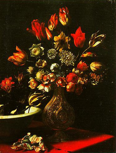A Vase of Flowers and a Basin | Carlo Dolci | Oil Painting
