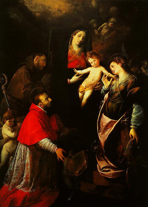 Madonna and Child with SS Francis Charles and Catherine of Alexandria | Cerano | Oil Painting