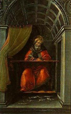 St Angustine in His Study | Sandro Botticelli | Oil Painting