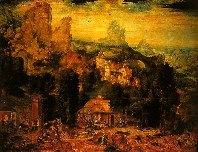 The Copper Mines | Henri met de Bles | Oil Painting