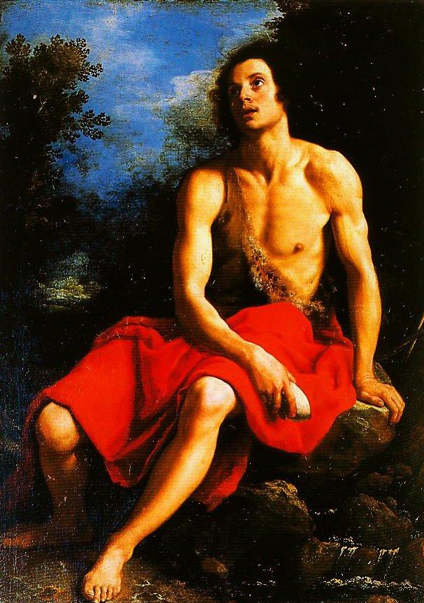 St John the Baptist in the Desert | Cristofano Allori | Oil Painting