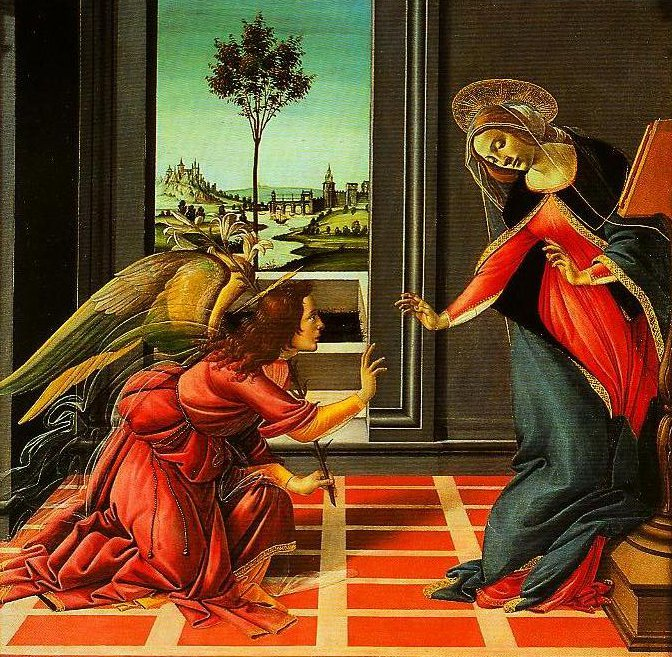 The Annuciation | Sandro Botticelli | Oil Painting