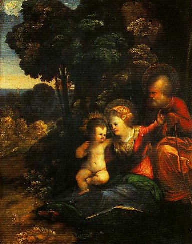 The Rest on the Flight into Egypt | Dosso Dossi | Oil Painting