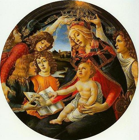 Madonna and Child with Angels (Madonna of the Magnificat) | Sandro Botticelli | Oil Painting