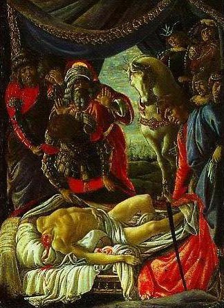 The discovery of Holoferns Corpse   Sandro Botticelli   Oil Painting