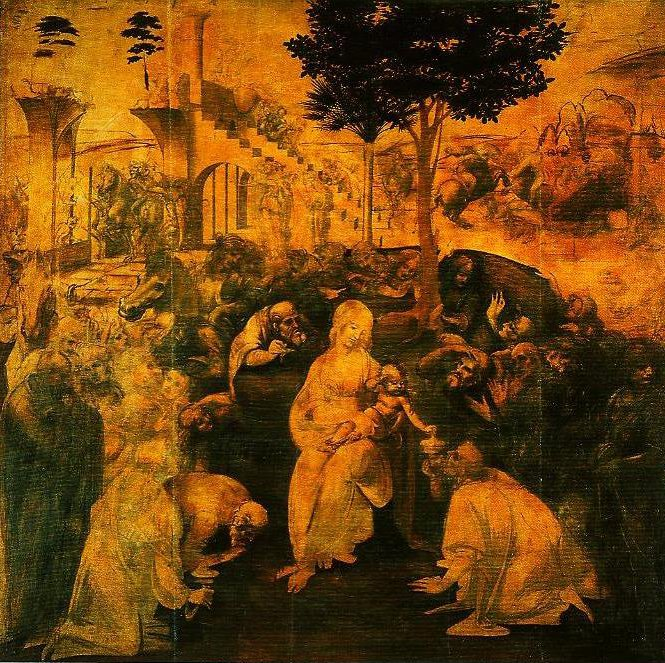 The Adoration of the Magi | Leonardo Da Vinci | Oil Painting