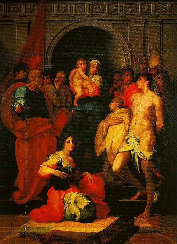 Madonna Enthroned with Ten Saints (Dei Altarpiece) | Rosso Fiorentino | Oil Painting