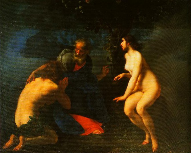 Adam and Eve in the Garden of Eden | Francesco Furini | Oil Painting
