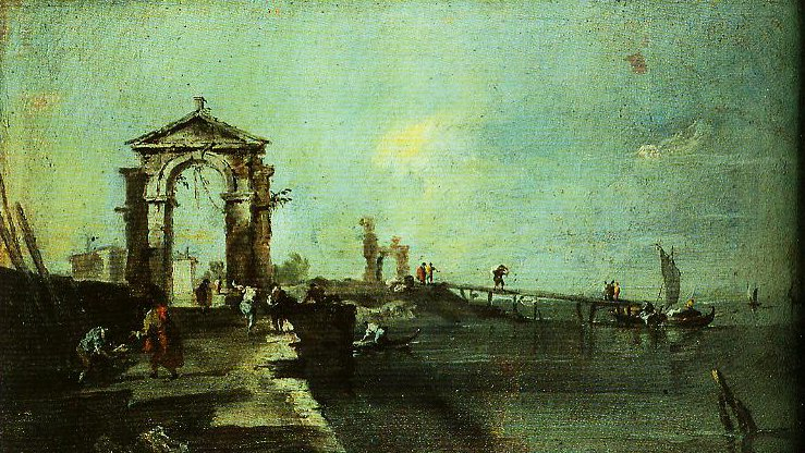 Caprice with Arch and Pier | Francesco Guardi | Oil Painting