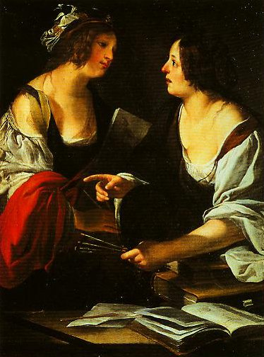 Allegory of Painting and Architecture | Francesco Rustici | Oil Painting