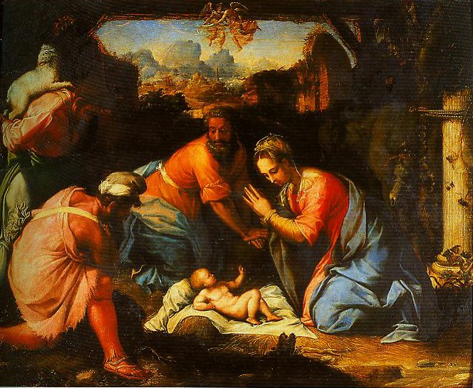 The Adoration of the Shepherds | Francesco Salviati | Oil Painting