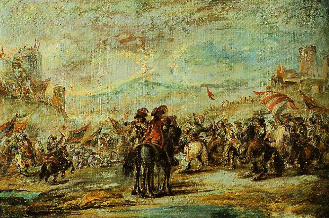 The Cavalry Charge | Francesco Simonini | Oil Painting