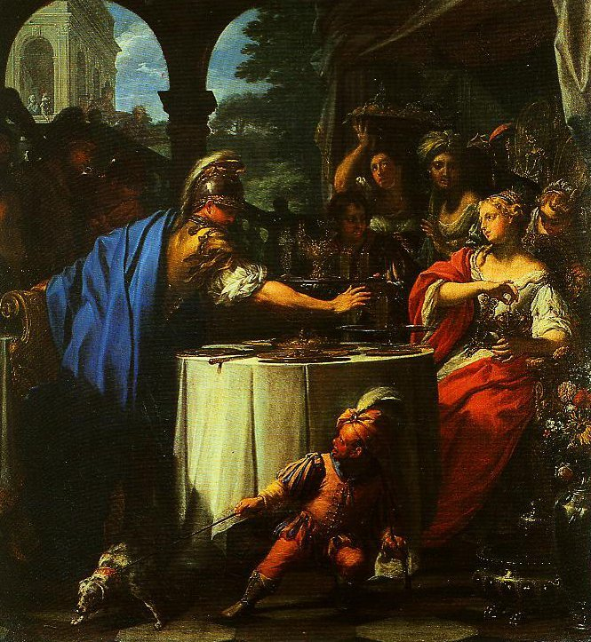The Banquet of Mark Antony and Clepatra | Francesco Trevisani | Oil Painting