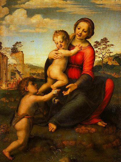 Madonna and Child with the Young St John | Franciabigio | Oil Painting