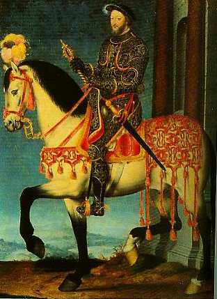 Francis I on Horseback | Francois Clouet | Oil Painting
