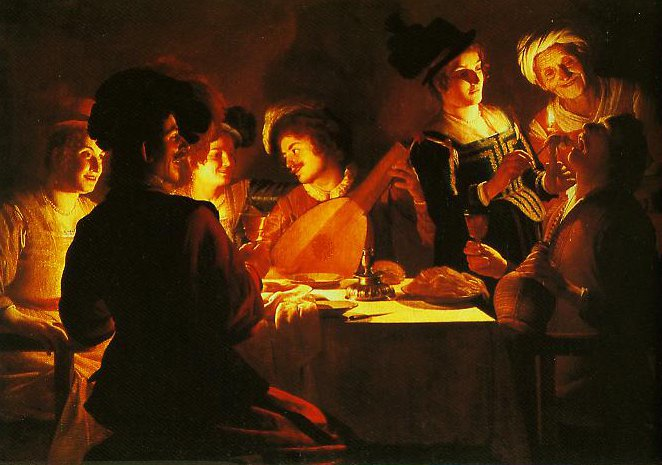 Supper with a Lute Player | Gerrit Van Honthorst | Oil Painting