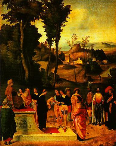 Moses Trial by Fire | Giorgione | Oil Painting