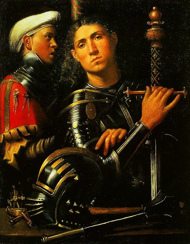 Portrait of a Man in Armor with His Page | Giorgione | Oil Painting