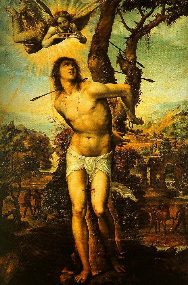 St Sebastian | Giovanni Antonio Bazzi called Sodoma | Oil Painting