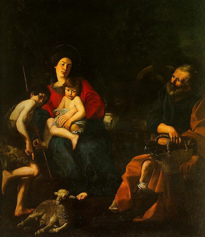 The Rest on the Flight into Egypt | Giovanni Battista Caracciolo | Oil Painting