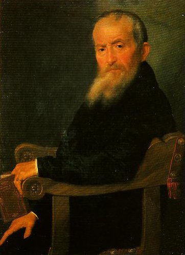 Portrait of a Giovanni Antonio Pantera | Giovanni Battista Moroni | Oil Painting