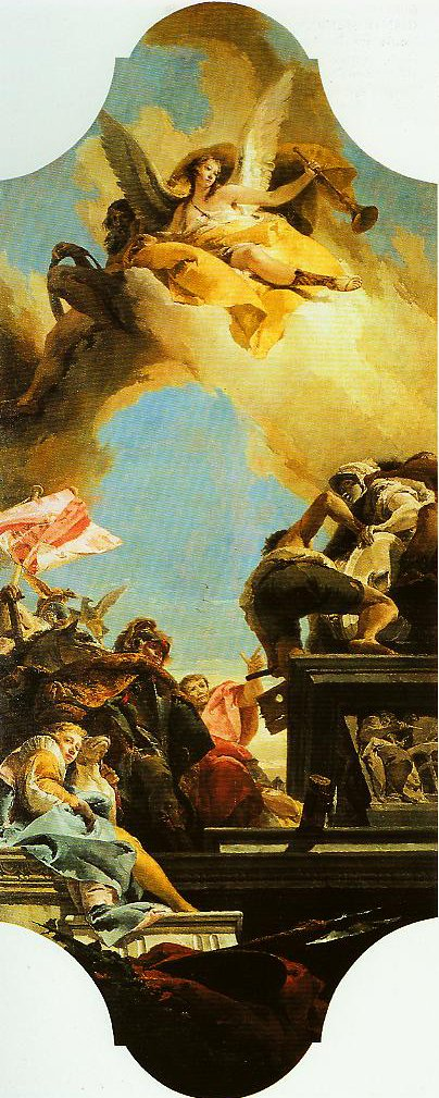 Erection of a Statue to an Emperor | Giovanni Battista Tiepolo | Oil Painting