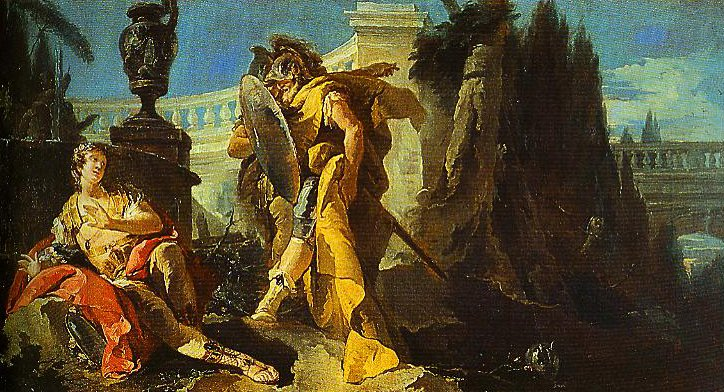 Rinaldo Sees Himself in Ubaldos Shield | Giovanni Battista Tiepolo | Oil Painting