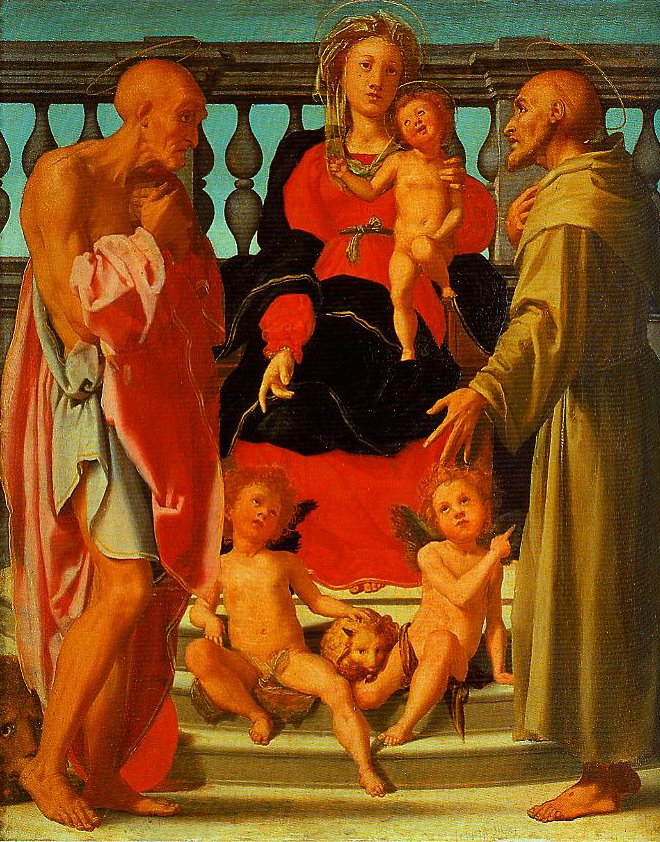 Madonna and Child with SS Jerome and Francis and Two Angels | Pontormo | Oil Painting