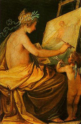 Painting Depicting Fame | Giovanni Da Cupids Hair | Oil Painting
