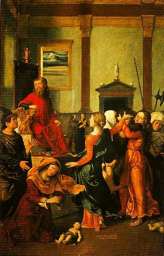 The Massacre of the Innocents | Giovanni Farancesco Caroto | Oil Painting