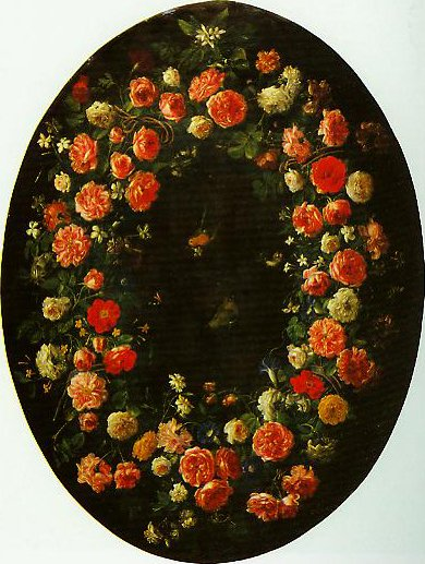 Garland of Flowers and Butterflies | Giovanni Stanchi | Oil Painting