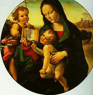 Madonna and child with the Young St John | Girolamo Del Pacchia | Oil Painting