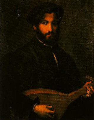 Portrait of a Gentleman with Mandolin | Giulio Campi | Oil Painting