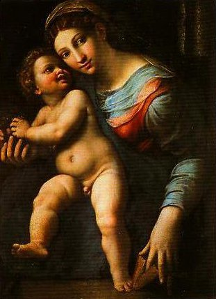 Madonna and Child | Giulio Romano | Oil Painting
