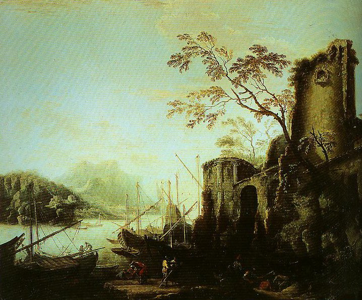Seascape with Towers | Salvator Rosa | Oil Painting