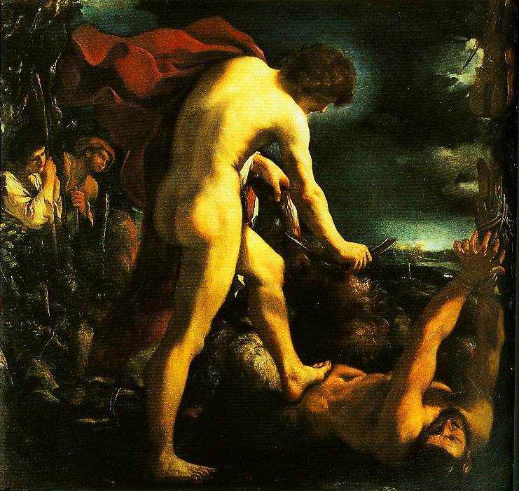 Apollo and Marsyas | Guercino | Oil Painting