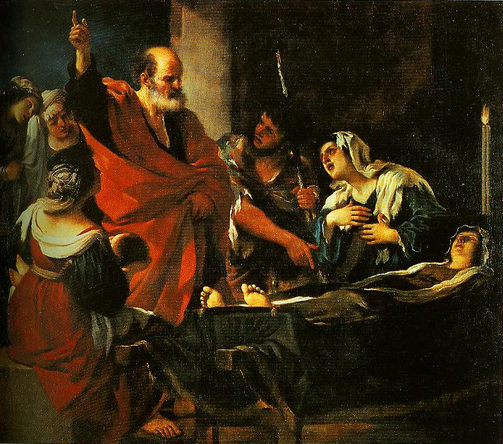 St Peter Revives Taitha | Guercino | Oil Painting